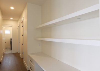 13 Hallway Office with Floating Shelves